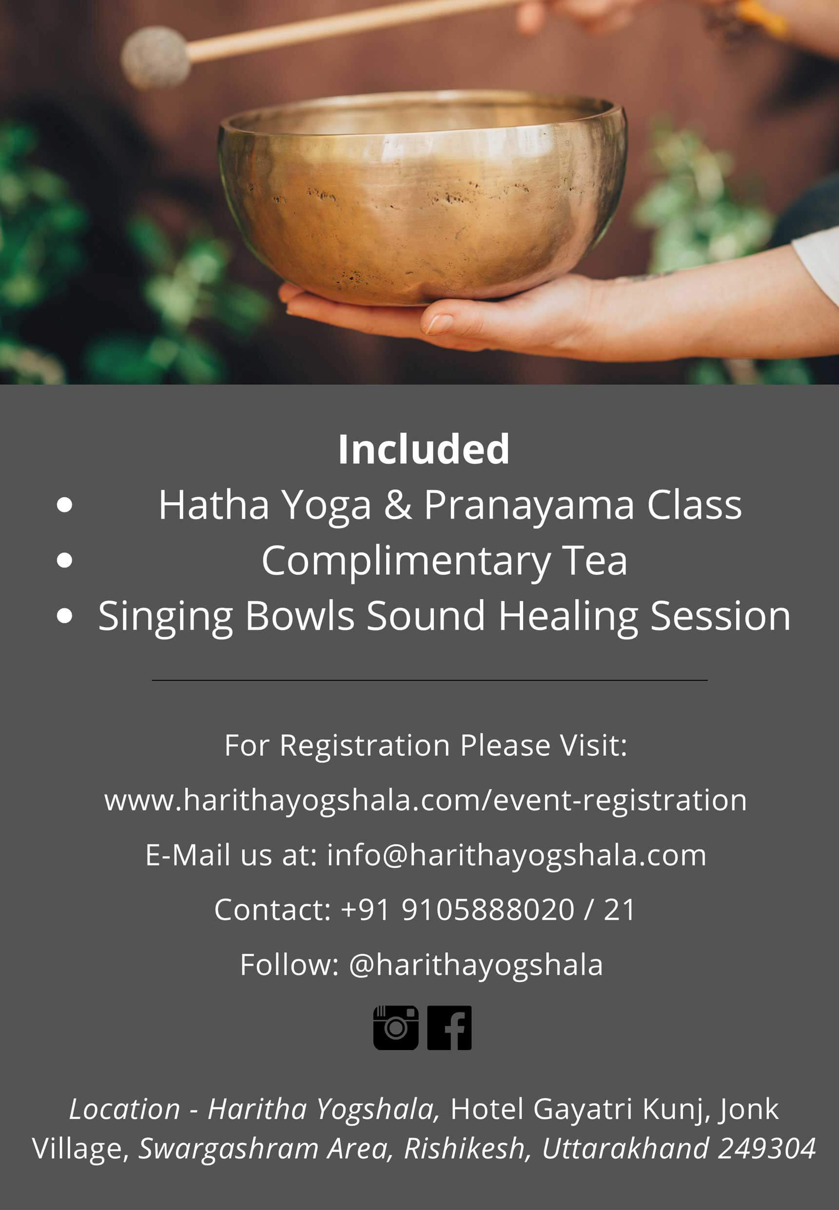 Free Sound Healing session in Rishikesh, India